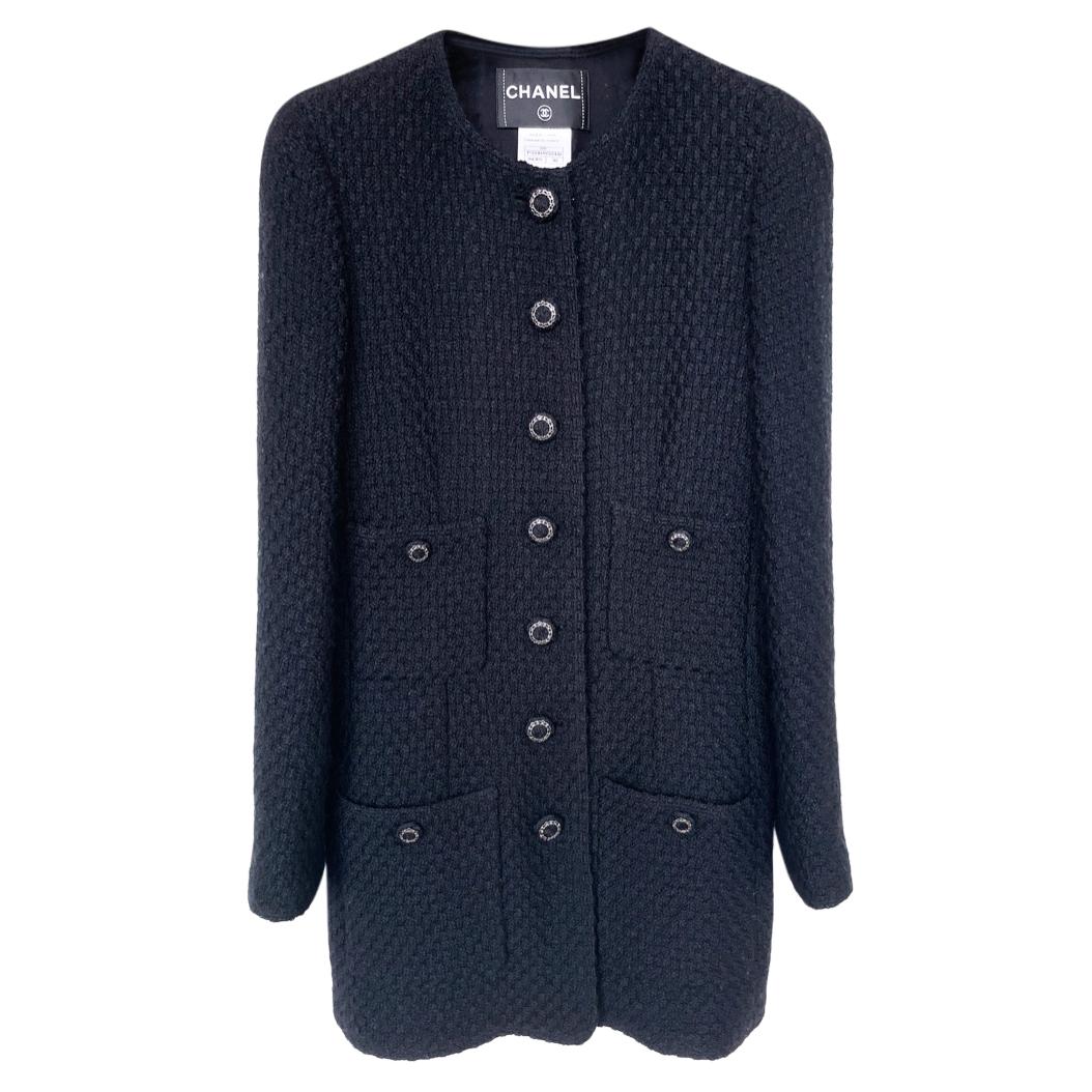 Paris/London Black Tweed Jacket