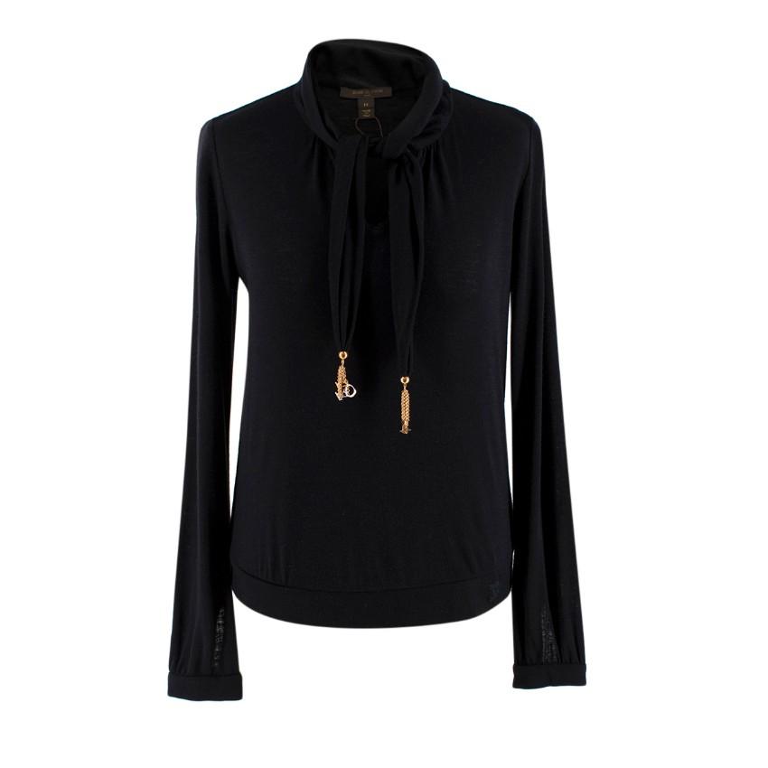 Louis Vuitton Black Love Pendant Wool Knit Sweater