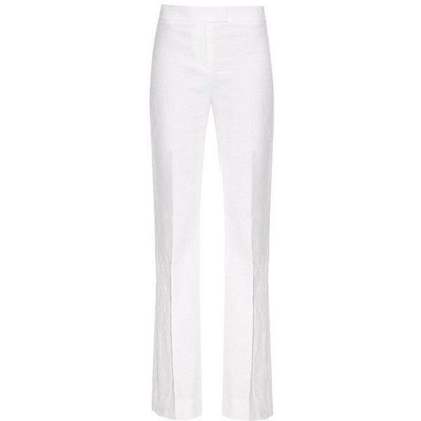 DVF White Textured Tailored Nicola Pants