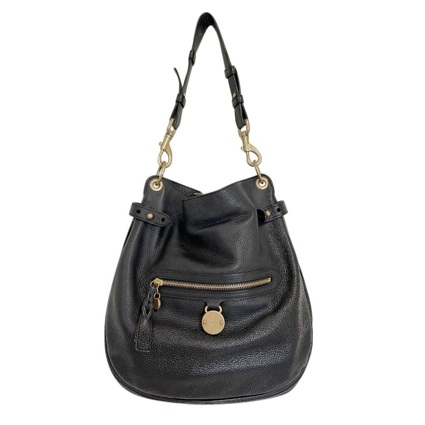 Mulberry Charcoal Leather Somerset Shoulder Bag