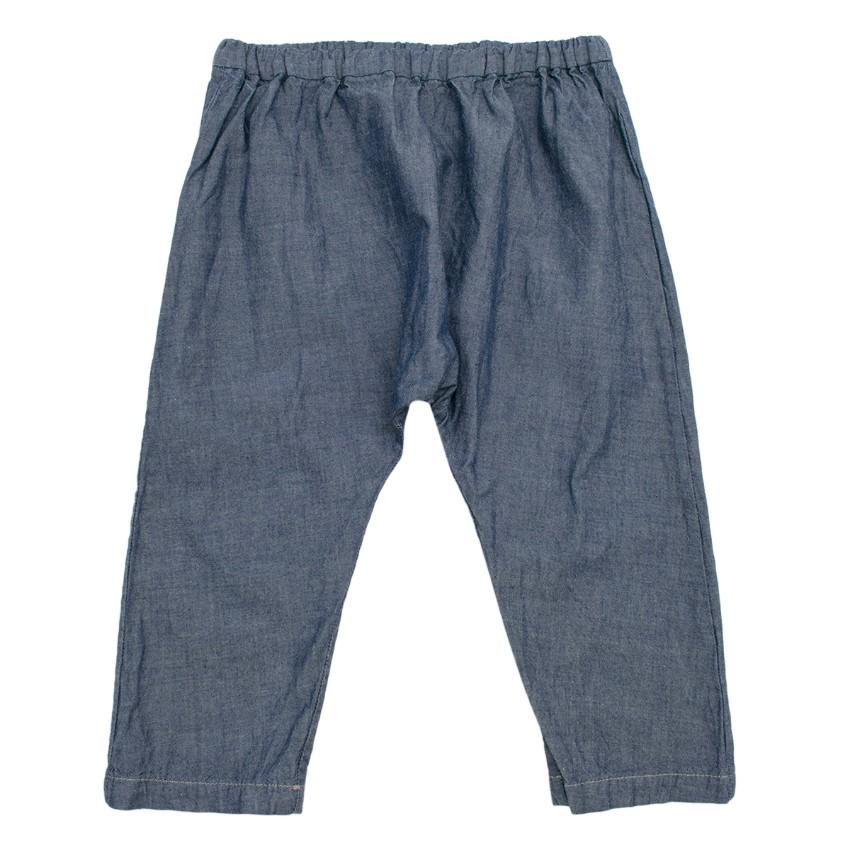 Bonpoint Blue Cotton Kids 12M Trousers