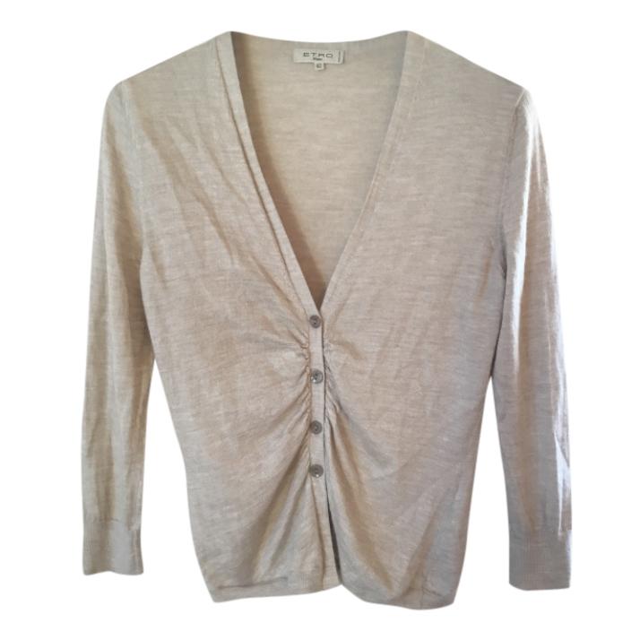 Etro silk & cashmere fine knit cardigan, size S.