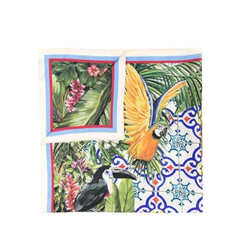 Dolce & Gabbana Animal Print Silk Scarf