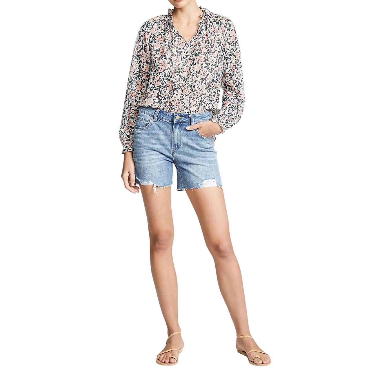 Paige Blue Denim Sarah Longline Shorts