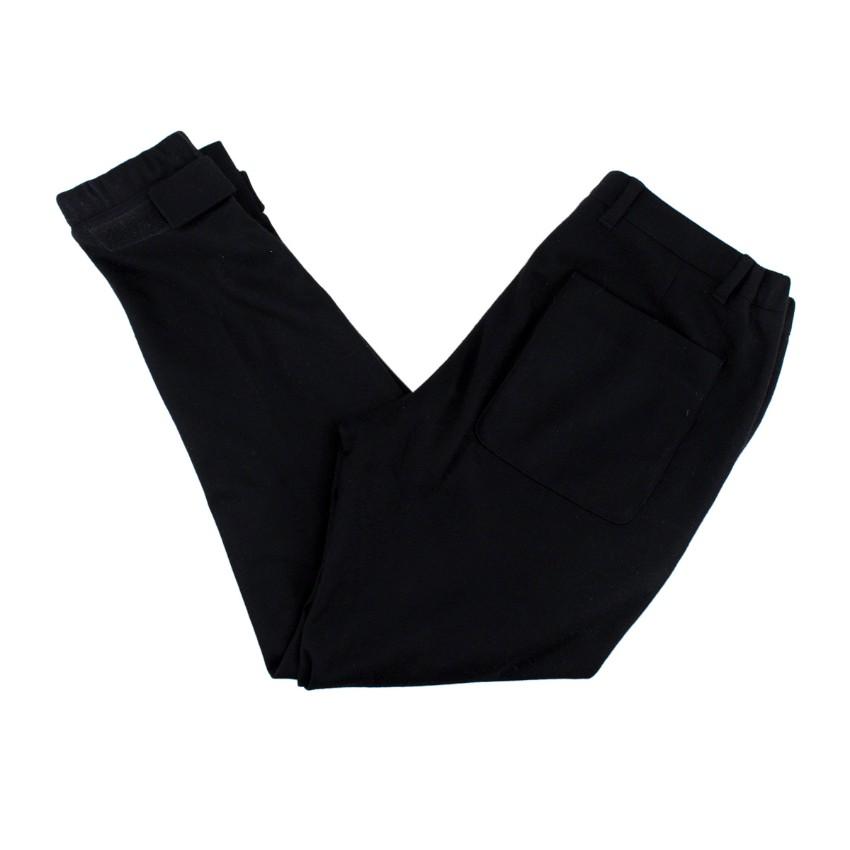 Prada Black Wool Tailored Joggers