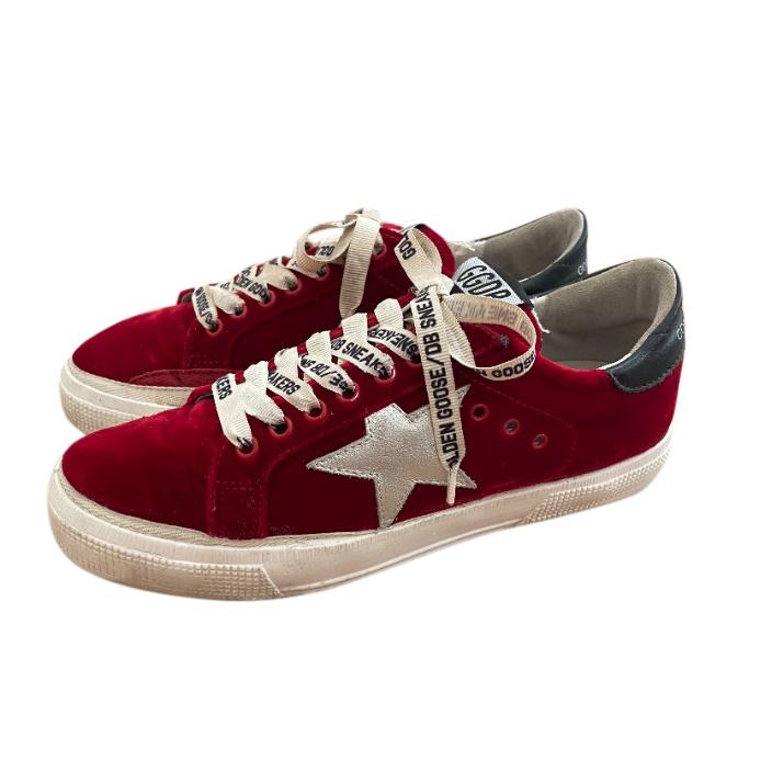 Golden Goose Deluxe Brand Red Velvet May Sneakers