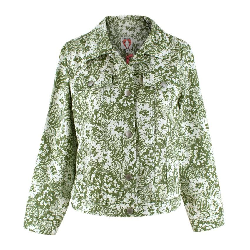 Shrimps Green Reeve Floral Denim Jacket
