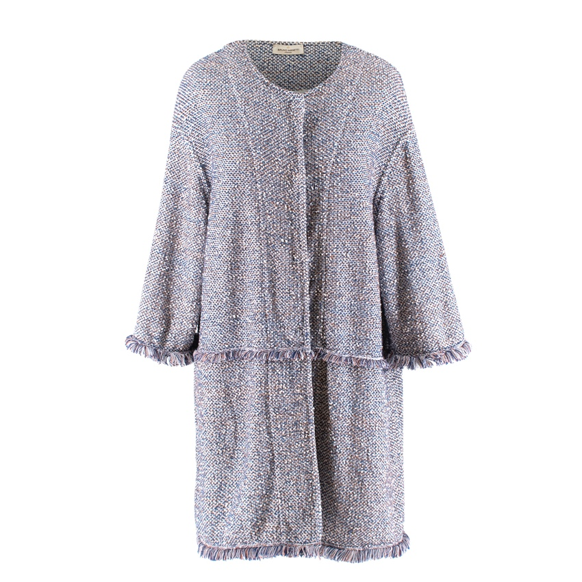 Bruno Manetti Cotton Tweed Knit Jacket