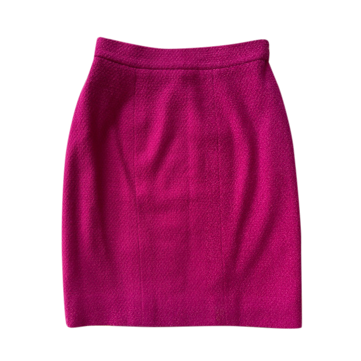 Chanel Boutique Vintage Pink Tweed Skirt