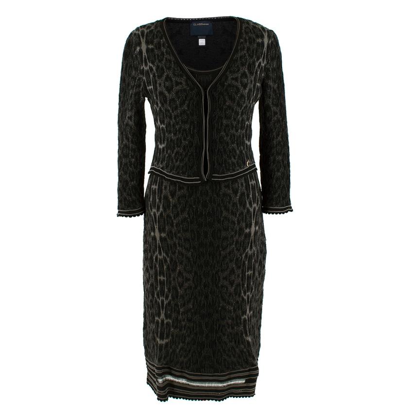 Class Cavalli Leopard Two-Piece Dress & Cardigan