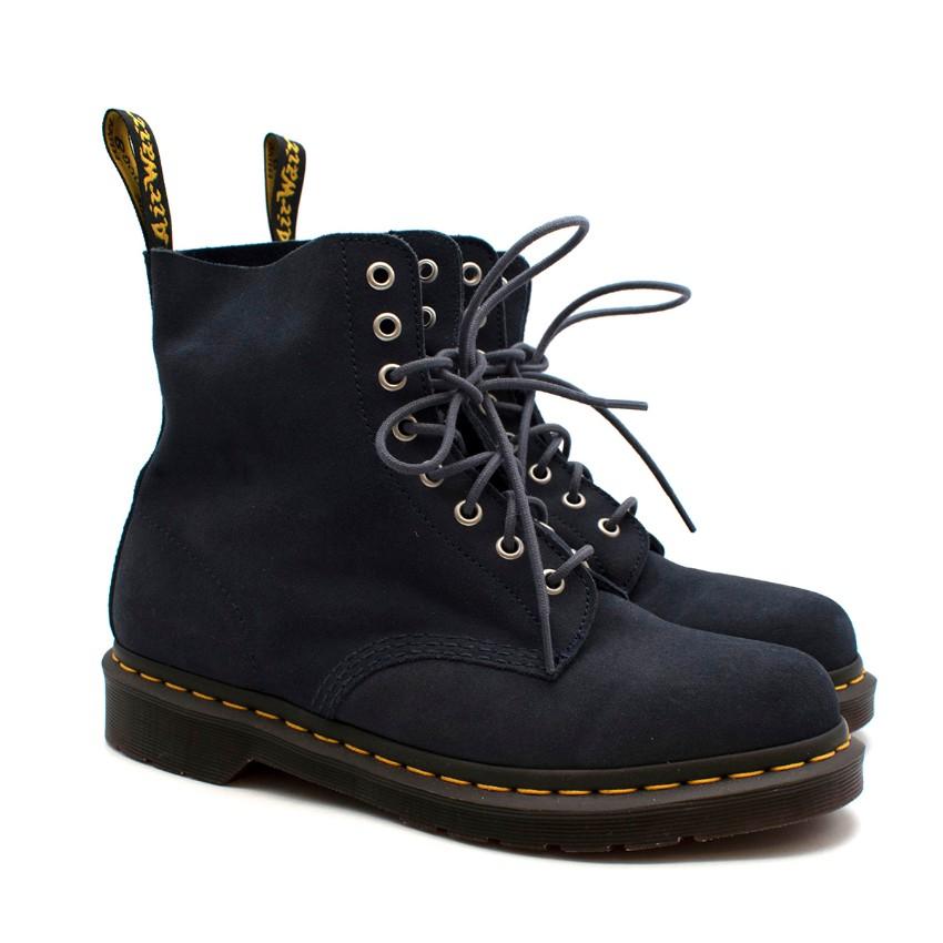 Dr. Martens Blue Suede 1460 Ankle Boots