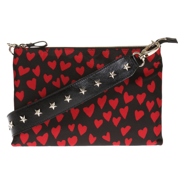 REDValentino Heart Print Shoulder Bag