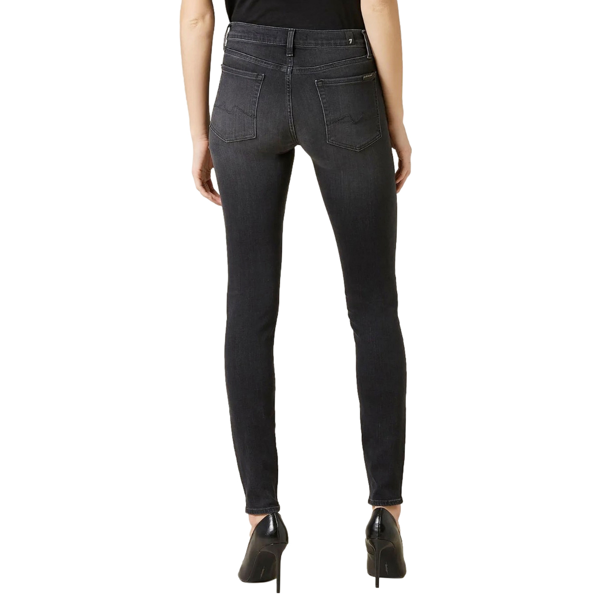 7 For All Mankind Black Illusion Luxe Skinny jeans
