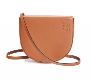 Loewe Soft Calfskin Tan Small Heel Crossbody Bag