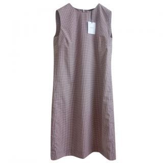 Agnona Wool & Silk Sleeveless Shift Dress