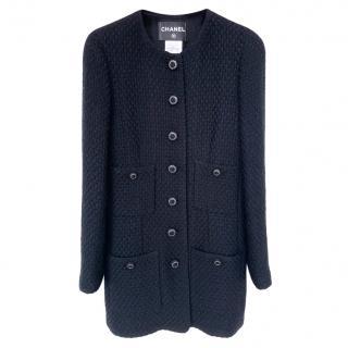 Paris/London Black Tweed Longline Jacket