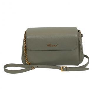 Chopard Grey Leather Chain Crossbody Bag