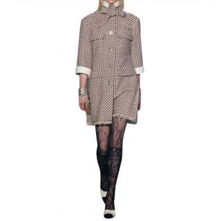 Paris / Rome Guipure Lace Detail Tweed Runway Coat