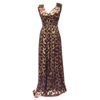 Temperley London Metallic Silk Pleated Gown