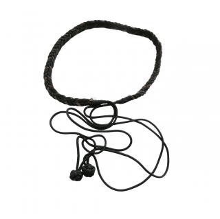 Saint Laurent Black Vintage Rope Belt