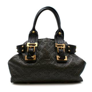 Louis Vuitton Black & Brown Quilted Monogram Leather Bag