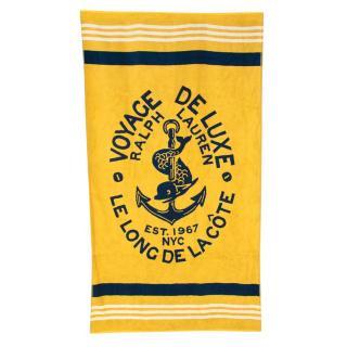 Ralph Lauren Yellow Cotton Voyage De Luxe Towel