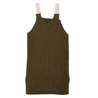 O'ahu Green Ribbed Knit Tank Dress