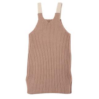O'ahu Pink Ribbed Knit Tank Dress