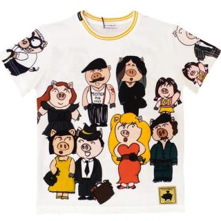 Dolce & Gabbana Kids 6Y Fashion Pigs T-Shirt