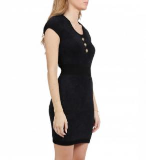 Balmain Black Diamond Knit Dress
