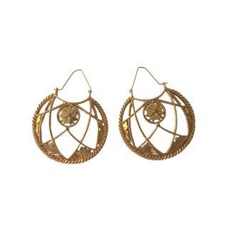 Saint Laurent Gold Tone Chandelier Earrings