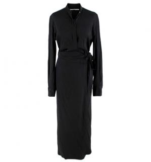 Rosetta Getty Black Wrap Shirt Dress