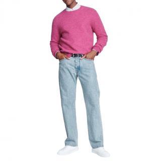 Rag & Bone Men's Pink Alpaca Blend Knit Sweater