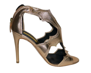Rupert Sanderson Gold Metallic Estelle Sandals