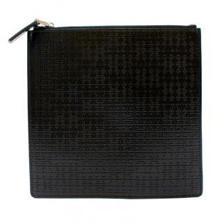 Givenchy Black Monogram Embossed Leather Mini Pouch