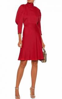 Khaite Red Satin Crepe Marina Dress
