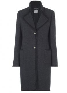 Chanel Paris/Moscow Felted Wool Military Coat