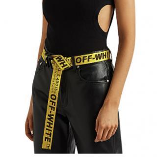 Off White Yellow & Black Nylon Industrial Belt