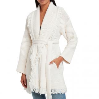 Alanui Polar View Virgin Wool Cardigan
