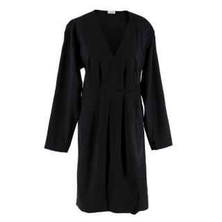 Loewe Black Pleated Button Detail Dress