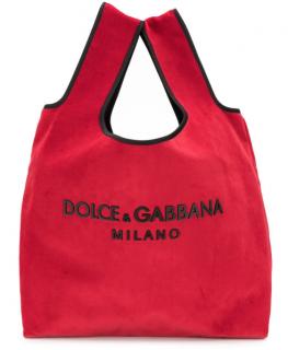 Dolce & Gabbana Market Tote - Red