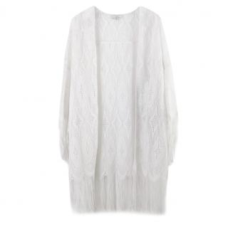 Miguelina White Crochet Knit Cover-Up