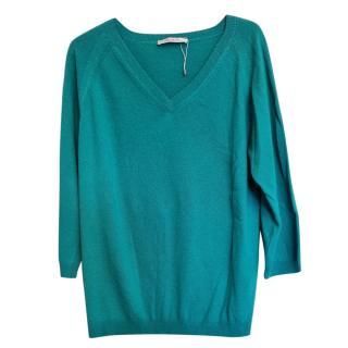 Max Mara Turquoise Wool & Cashmere Jumper