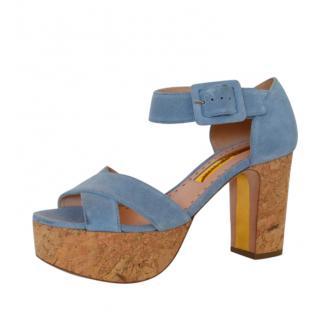 Rupert Sanderson Haitana Azure Sandals
