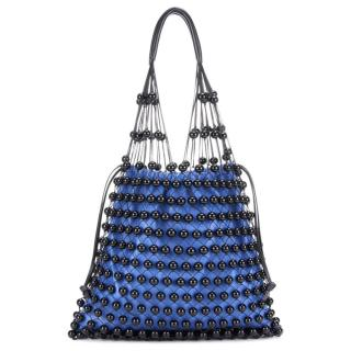 Mulberry Nappa Beaded Fishnet Tote Bag