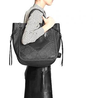 Coach Black Tatum Studded Tote Bag