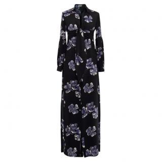 Anjuna black floral print silk dress