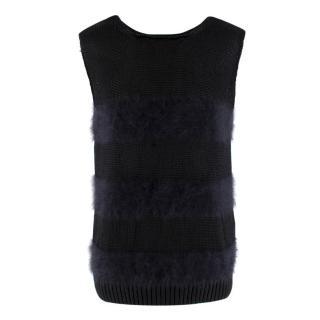 Balenciaga Black Angora Blend Knit Vest