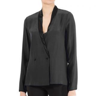 Piamita Black Valeria Silk Blouse