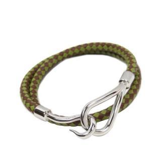 Hermes Braided Bangle Leather Bracelet